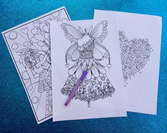 Valentines Coloring Package PDF to Print