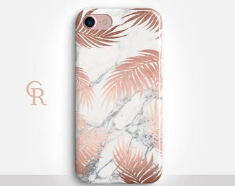 Rose Gold Marble iPhone 7 Case For iPhone 8 iPhone 8 Plus - iPhone X - iPhone 7 Plus - iPhone 6 - iPhone 6S - iPhone SE - Samsung S8