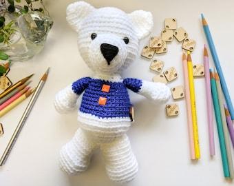 BSU Teddy Bear, Boise Teddy Bear, Boise, Idaho, Amigurumi, Crochet Toys, Handmade toys, Christmas present