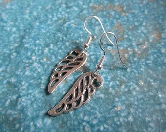 Wing earrings, angel earrings, angel wing earrings