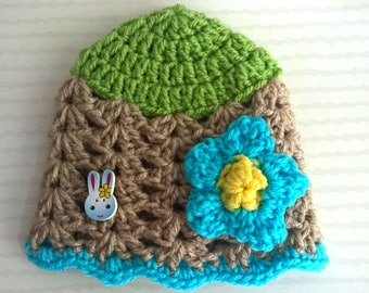 My little 3/6 month baby Bunny Hat