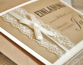 Invitation vintage to Wedding-model No. 1