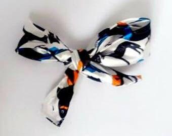 silk hair bow clip