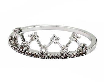 Fashion sparkling crystal rings