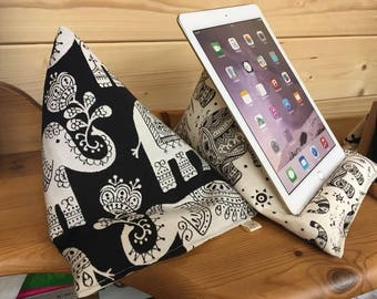 Black Elephant Tablet/Ipad beanie cushion