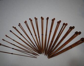 Carbonized Bamboo Knitting Needles (18 Pair Set)