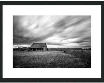 The Chambers Homestead at Mormon Row, Grand Teton National Park - 15 x 20in Signed Print With Black Oak Frame - Ready to Hang