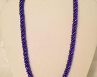Purple Kumihimo Necklace