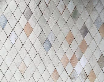 Diamond-shaped Tiles in Pale, Neutral Tones *Seconds*