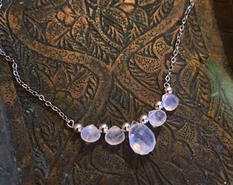 Blue moonstone necklace