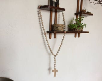Clay bead mexican rosary.
