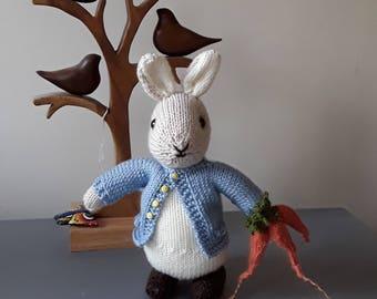Handmade Handknitted Mister Rabbit