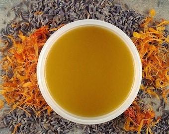 On Sale Calendula Lavender Healing Salve - chapped skin salve - minor cuts salve - first aide salve -healingsalve 4 ounce