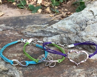Infinity, Hamsa, or Tree Of life charm bracelet