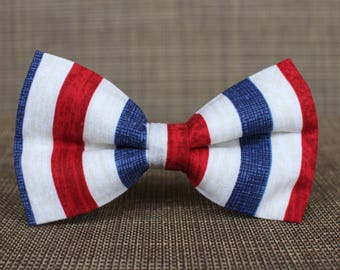 USA Stripes Bow Tie | Patriotic | Bow Tie for Boys | Bow Tie for Men | Bow Tie for Dog | Stars and Stripes | 4th of July