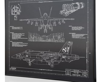 Fa 18 blueprint art etsy fa 18e personalized laser engraved blueprint artwork custom artwork for aviation enthusiasts malvernweather Choice Image