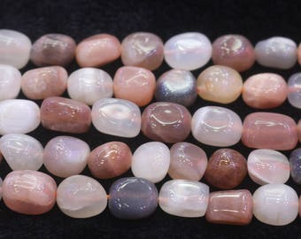 Natural Mixcolor Moonstone Nugget Beads,15 inches per strand
