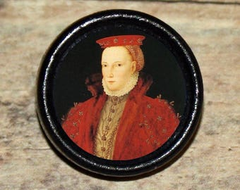 English Queen ELIZABETH I TUDOR Pendant or Brooch or Ring or Earrings or Tie Tack or Cuff Links