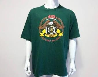 Vintage Harley Davidson T-Shirt Harley Owners Group HOG - Color Green - Size XXL
