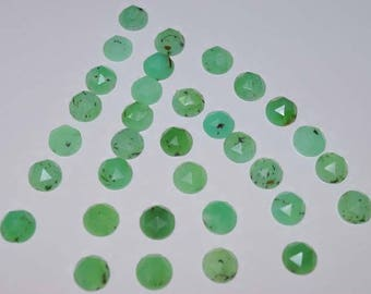 UN-045 Gorgeous Chrysoprase Rose Cut Faceted Round Gemstone Beads 8mm AAA Pack of 33 Pieces Weight 58 Carat 100% genuine and natural stone