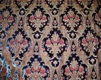 PIERRE FREY FADINI Borghi Bach Cut Velvet Medallions Fabric 10 Yards Sapphire Blue Multi