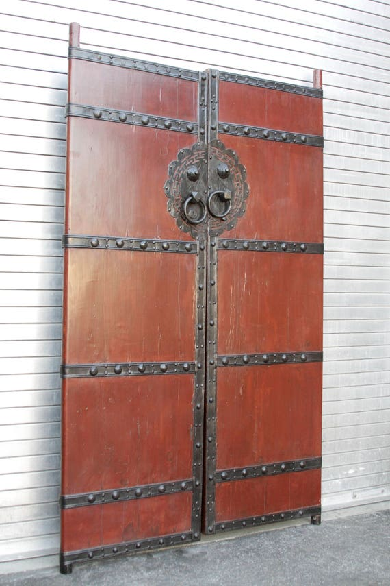 Like this item? - Red Lacquer Chinese Gate Doors Pair Of Red Entrance Door