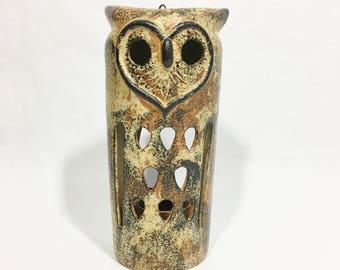 Ceramic Owl Lantern Candle Holder Votive Tea Light Holder