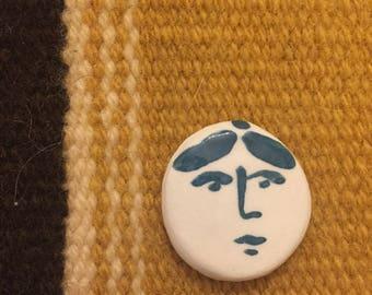 Ceramic Face Pin