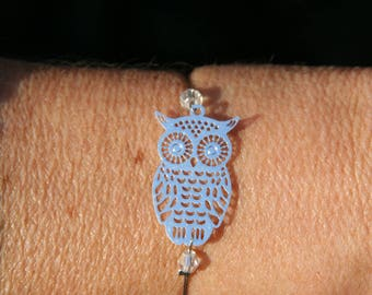 Bracelet with metal OWL or OWL