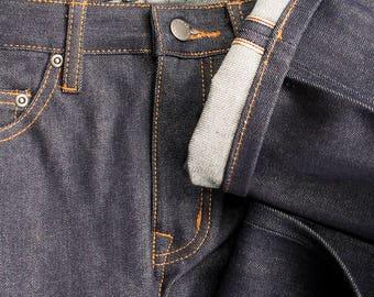 Premium Straight fitted-leg Japanese Selvedge Denim Jeans - Organic Cotton