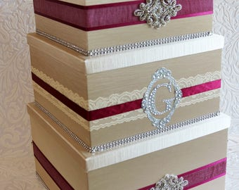 wedding card box, champaign card box, custom card box, wedding card holder, card box for wedding, wedding gift box, three tier card box