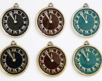 20mm vintage cute clock pendant,clock charm,clock necklace,clock bracelet,clock anklet,clock jewelry,charm for women teens girls AC391