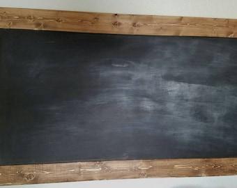 Rustic chalkboard, framed chalkboard, wood chalkboard, wedding chalkboard, coffee bar chalkboard, large chalkboard
