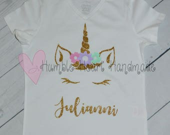 Personalized Unicorn Birthday Shirt