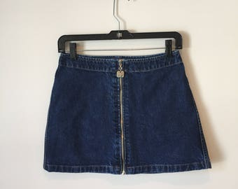 DKNY 90s Denim Mini Skirt
