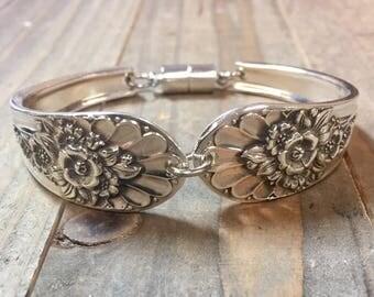 Spoon Bracelet | Jubilee |  Jubilee Bracelet| Silverware Jewelry|  Silver Bracelet| Silverware bracelet | Spoon Jewelry, 1953 bracelet