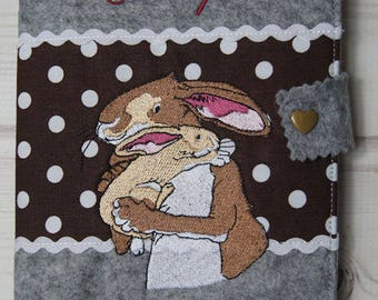 Nut case / cover felt/motif Bunny / manual work