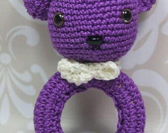 Baby rattle, Greifring, Sweet Bear, Amigurumi, manual work
