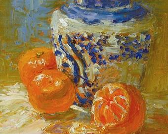 Mandarins with Ginger Jar