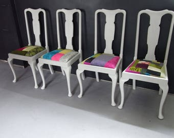 Painted Patchwork dining chairs