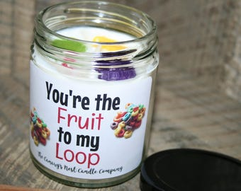 Fruit Loops Soy Candle Gift| Hand Poured Soy Candles, Valentine's Day Gift, Best Friend Candle, Boyfriend Candle, Girlfriend Candle