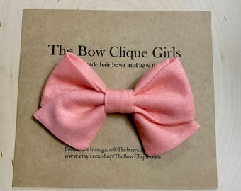 Peach sailor bow, hair bows for girls, nylon band, baby bows, photography hair bows, headbands, hair clips