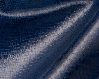 Snakeskin Fabric: Blue