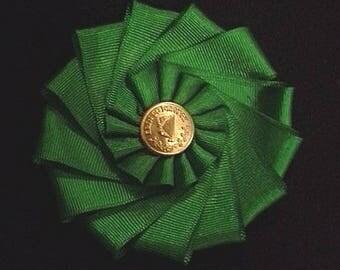 Irish Cockade for Tricorn or Bicorne - Society of United Irishmen
