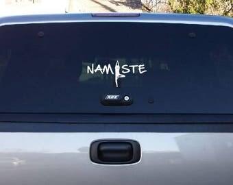 Decal For Car Window Sticker Namaste Yoga 067b