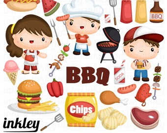 Barbeque Clipart, Barbeque Clip Art, Barbeque Png, BBQ Clipart, Steak Clipart,  Barbecue Clipart, Food Clipart Sausage Clipart, Chicken