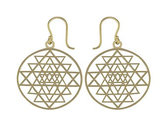 ISIS  bohemian brass earrings