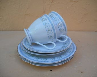Vintage Tea Set. Tea Cups and Saucers and Tea Plates.
