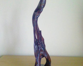 Bog yew abstract wood sculpture