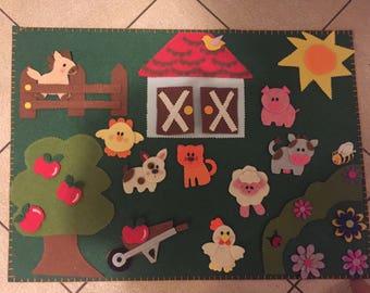 Panel Game Montessori Farm